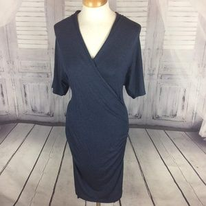 Banana Republic Crossover Gray Midi Dress NWT S